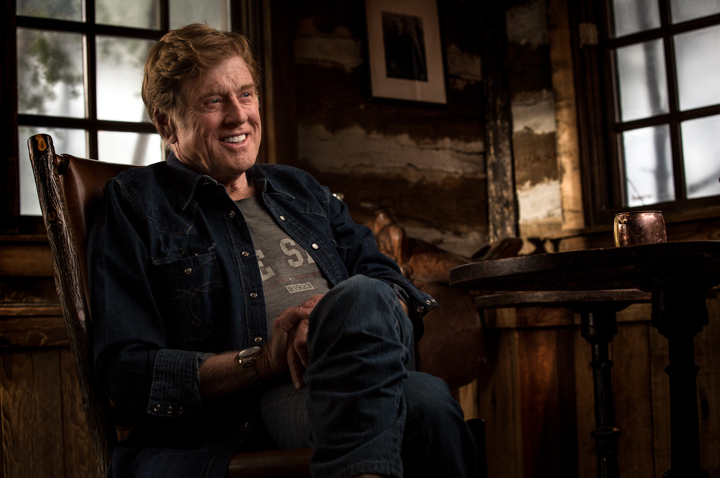 Robert Redford at Sundance Lodge